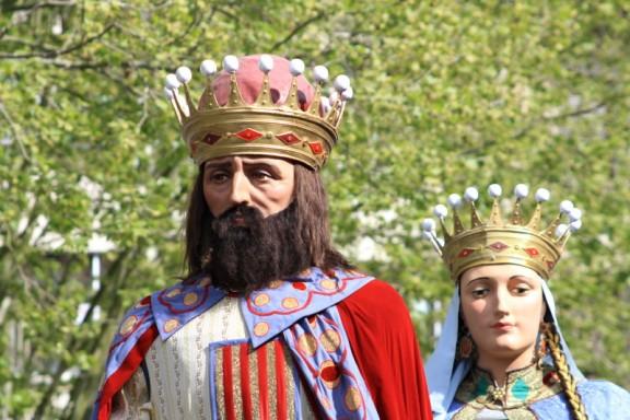 Gegants de Ripoll: el comte Guifré el Pelós i la seva muller Guinedell